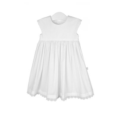 100% organic cotton dress with lace